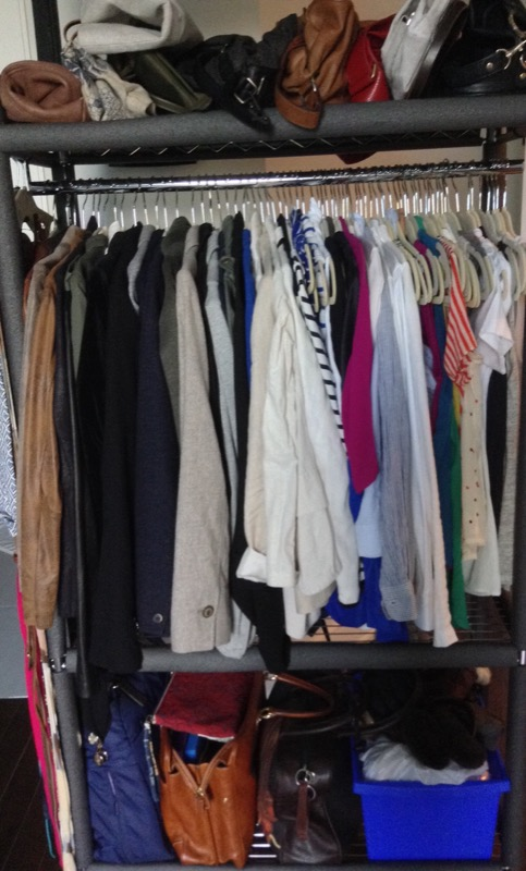 After Moving Organizing Closet Wardrobe Clothes Rack 5