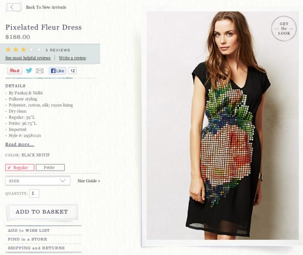 Anthropologie-Pixelated-Fleur-Dress