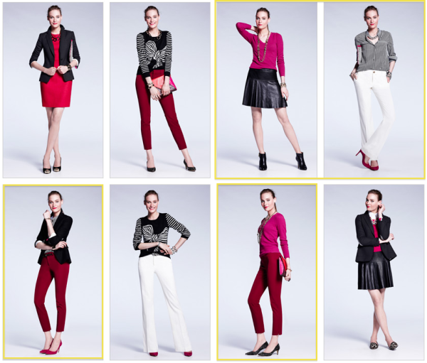 Banana-Republic-Autumn-Winter-2013-Magenta-Winter-Whites-Outfits-New