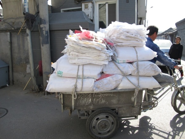 Beijing-China-Photograph-Collecting-Rice-Sacks-Recycling