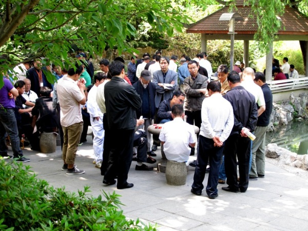 Beijing-China-Photograph-Gambling-Groups-Activity