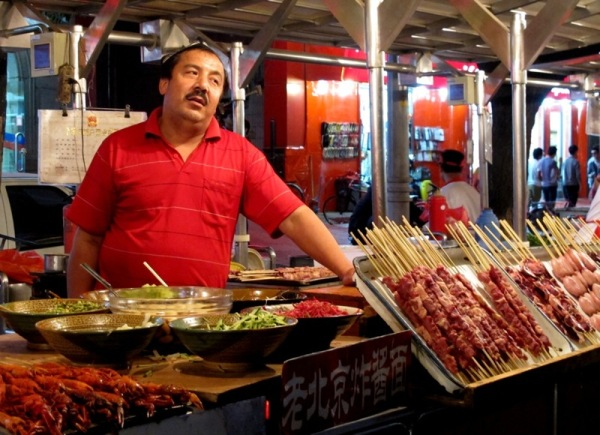 Beijing-China-Photograph-Night-Market-Food-Stalls