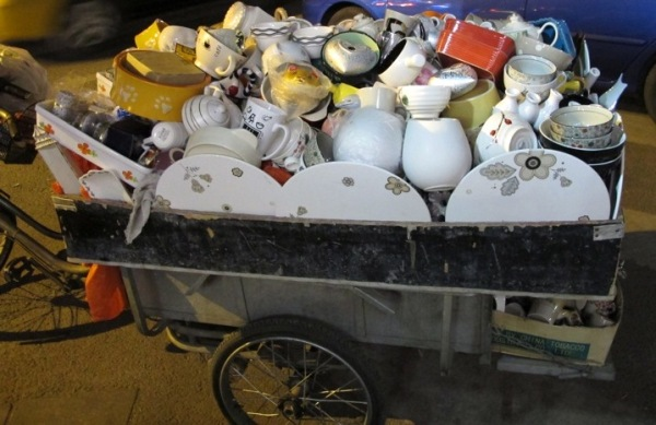 Beijing-China-Photograph-Recycling-Truck-Pots-Pans-Porcelain