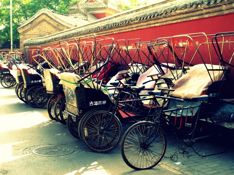 Beijing-China-Photograph-Rickshaws-Bicycles
