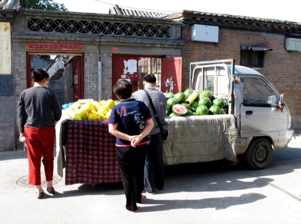 Beijing-China-Photograph-Walled-Neighbourhood-Food-Truck-Home