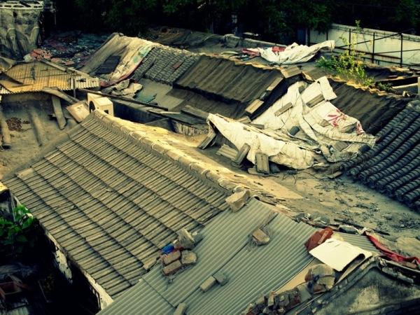 Beijing-China-Photograph-Walled-Neighbourhood-Under-a-bridge-Home