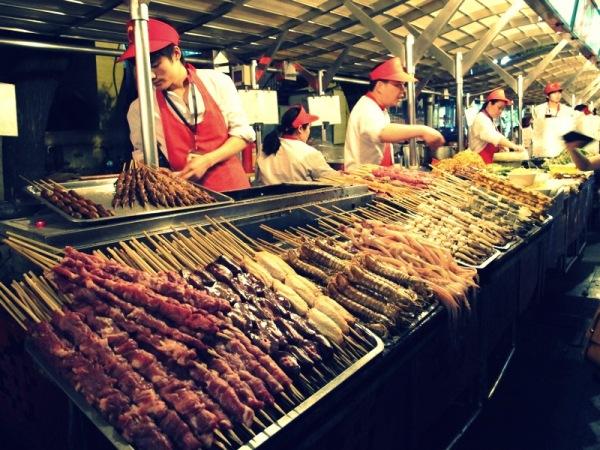 Beijing-Photograph-China-Night-market-Stalls-Sellers