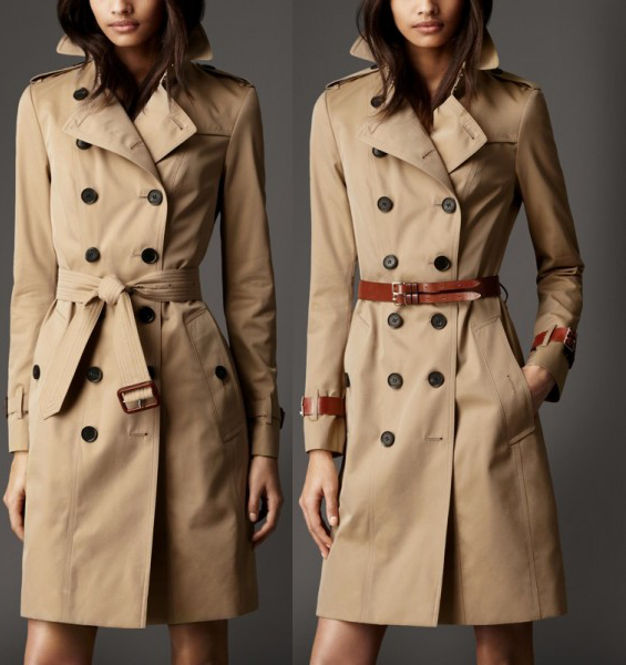 Burberry-Bridle-Lake-Trench-Coat-Long-Cotton-Gabardine-Two-Styles
