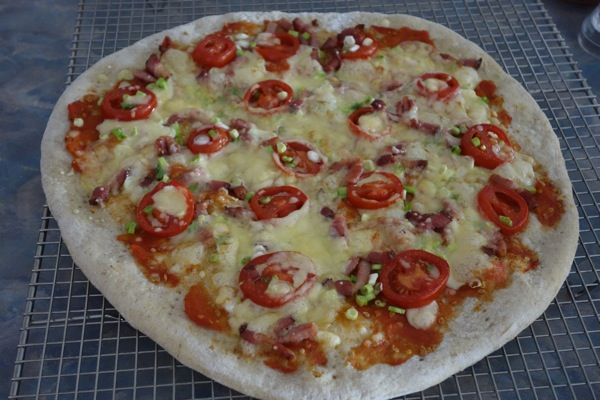 Christmas-Feast-2013-Pizza-with-Raclette-Cheese-and-Bacon