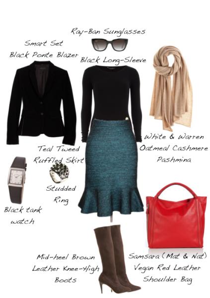 Closet-Wardrobe-Mochimac-Clothes-Set-Teal-Tweed-Skirt