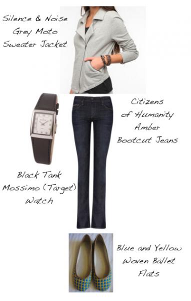 Closet-Wardrobe-Mochimac-Grey-Moto-Sweater-Jacket-Citizens-of-Humanity-Jeans-Blue-Yellow-Woven-Flats-382x600