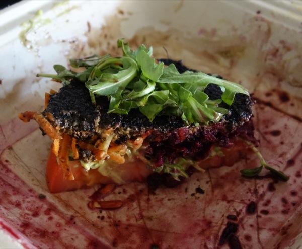 Cruda-Cafe-Food-Raw-Vegan-Burger-Mushroom-Nuts-Salad-Meal-Beets-Meal