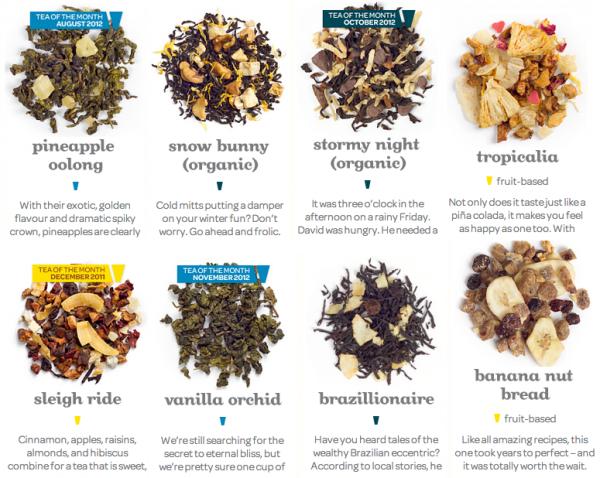 December-2012-What-I-Bought-Davids-Tea-Teas