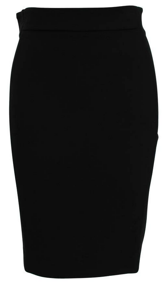 Diane-von-Furstenberg-Marta-Panelled-Black-Pencil-Skirt-Front-Clear