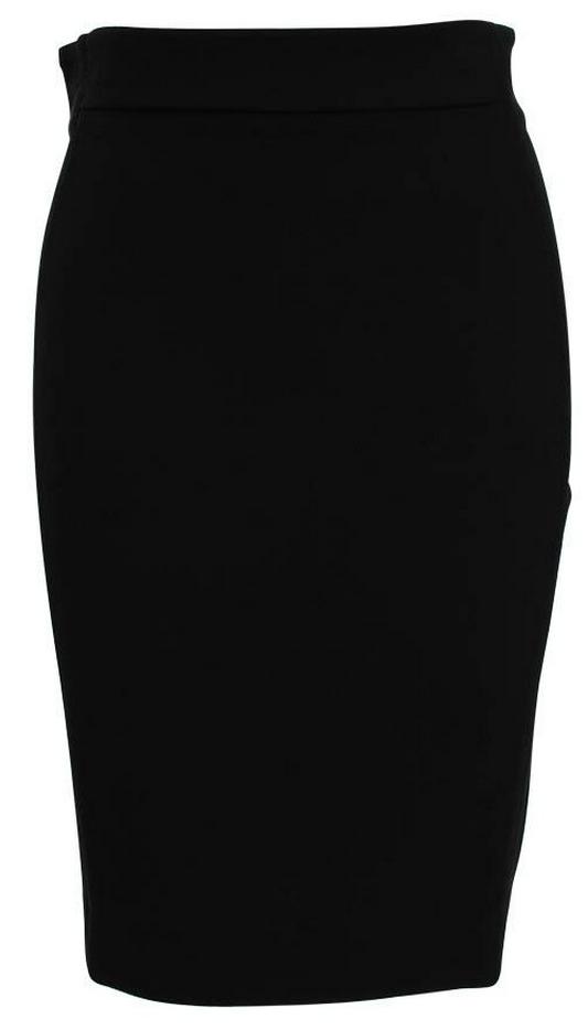 Diane-von-Furstenberg-Marta-Panelled-Black-Pencil-Skirt-Front-Clear