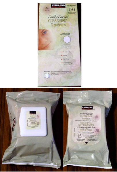 Facial-Cleansing-Cloths-Makeup-Wipes-Kirkland-Costco-Box-Wipes-Box