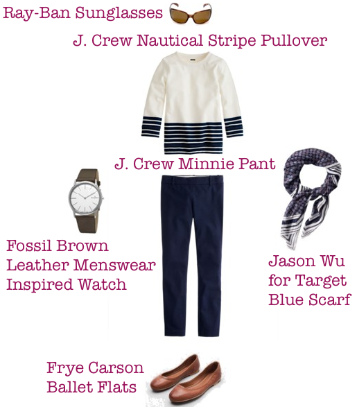 J. Crew-Nautical-Pullover-Striped-Sweatshirt-Jason-Wu-For-Target-Scarf-Casual