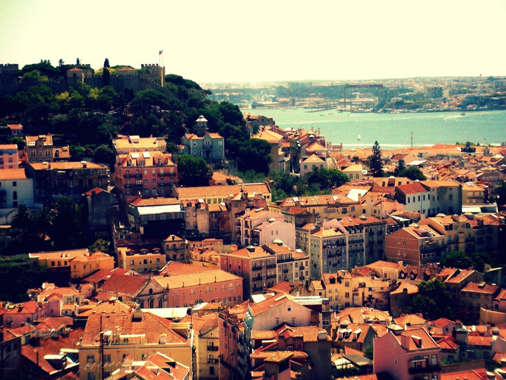 Lisbon-Portugal-Europe-Castle-City-View-Travel-Photograph