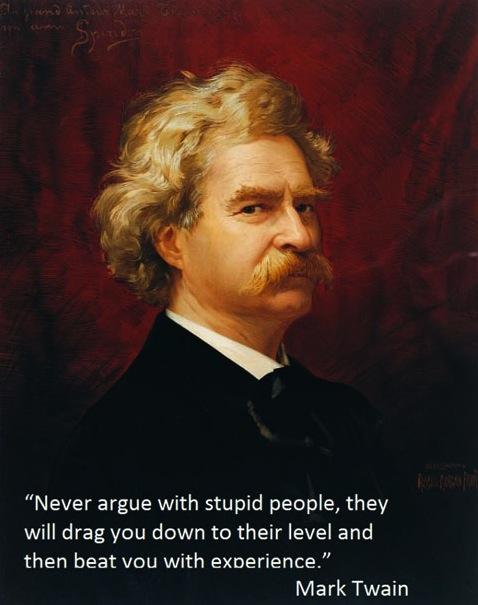 Mark Twain Stupid People Work Career Life Experience Quote Save