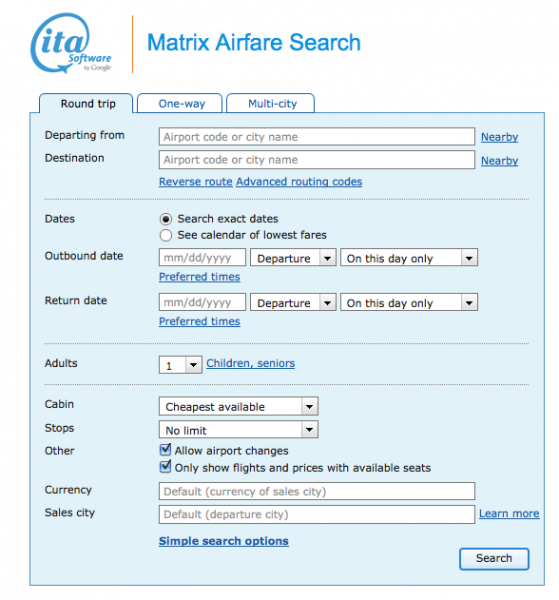 Matrix-ITA-Software-Google-Search
