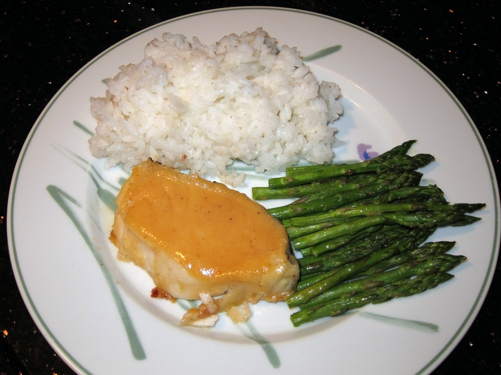 ... with an Asian twist and Miso Sea Bass with White Rice and Asparagus