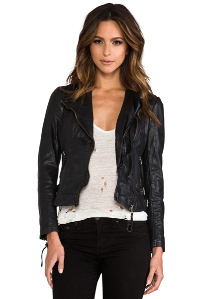 Muubaa-Reval-Biker-Jacket-Black-Open