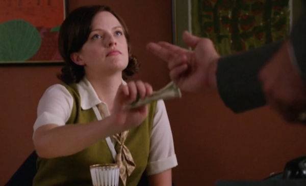 Peggy-Olson-Roger-Sterling-Mad-Men-Bribe