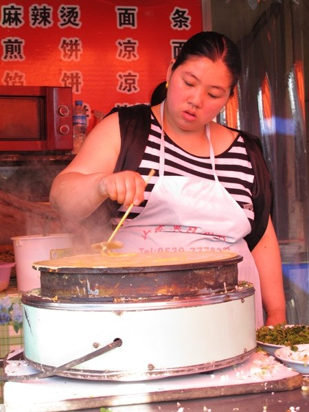 Photograph-Travel-Beijing-Crepe-China-Food-Vendor-Eat