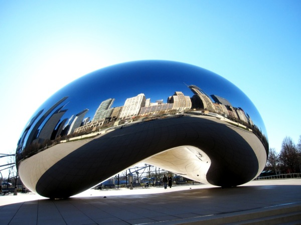 Photograph-USA-Illinois-Chicago-The-Bean-Statue