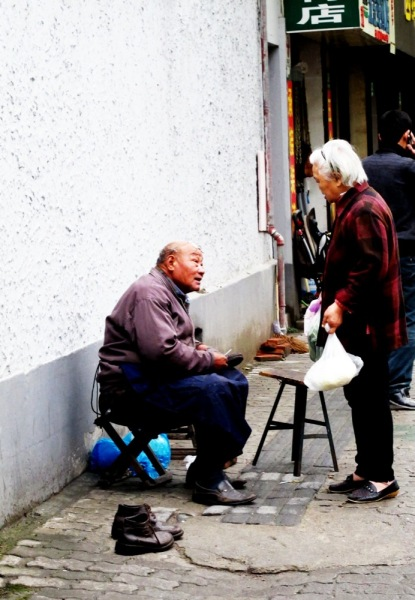 Shanghai-China-Photograph-Cobbler-Street-Business-Working