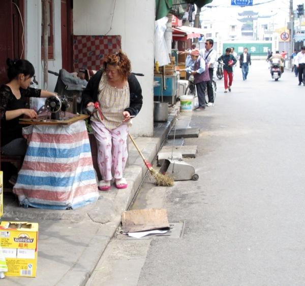 Shanghai-China-Photograph-Seamstress-Street-Shop-Work