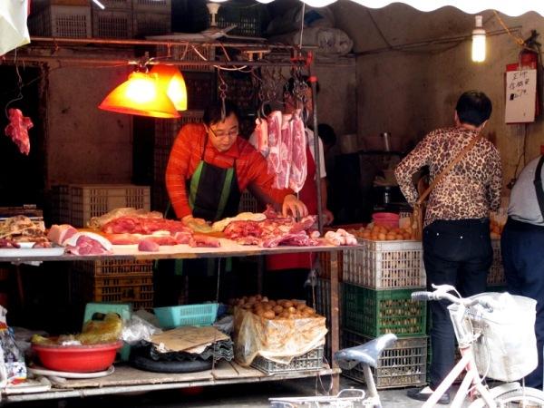 Shanghai-China-Photograph-Street-Market-Butcher-Meat