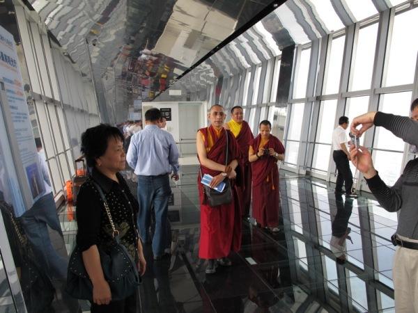 Shanghai-China-The-Bund-Monks-Visiting-Staring-Curious