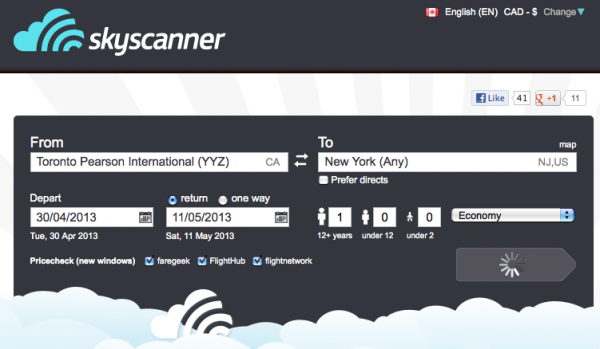 Skyscanner-Search-flights-engine