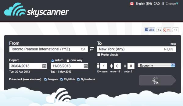 Skyscanner-Search-flights-engine