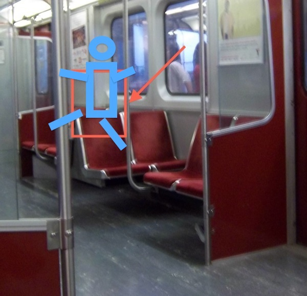 Subway-TTC-Interior-3-Blond-Devils-Sitting-On-Top-of-the-Seats-Pirate