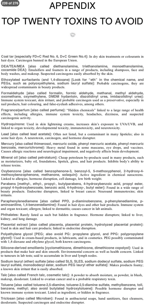 There-is-Lead-In-Your-Lipstick-Gillian-Deacon-Page-239-240_20-Toxic-Chemicals-Appendix