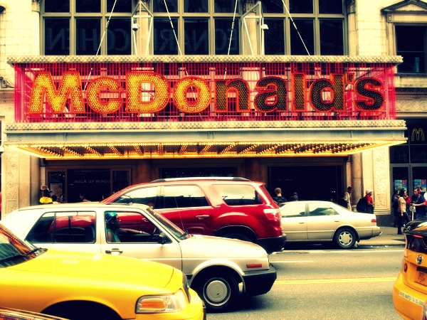 Travel-Photograph-NYC-New-York-City-USA-McDonalds-Fast-Food-Junk