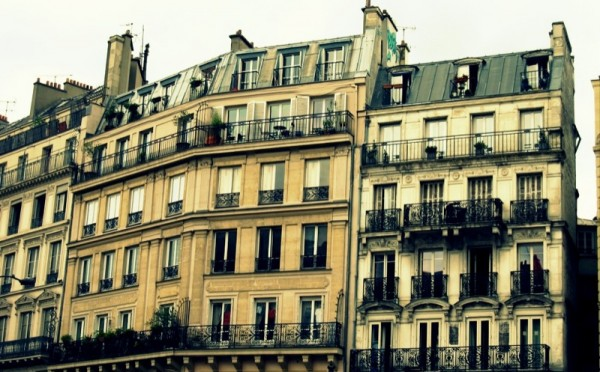 Travel-Photograph-Paris-France-Near-Montmartre-Apartments-Homes-Building