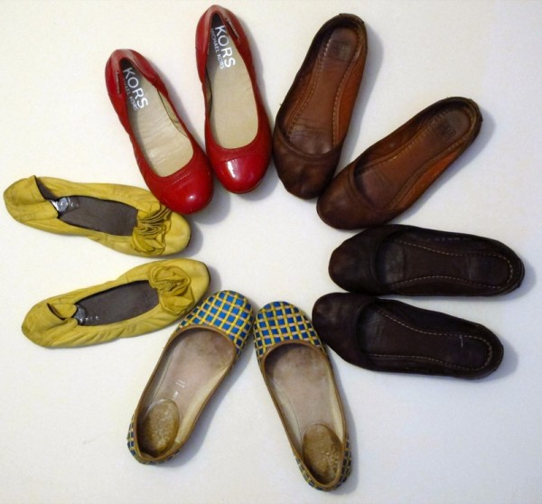 Wardrobe-Closet-Shoes-Ballet-Flats-Collection-Red-Michael-Kors-Frye-Leather-2