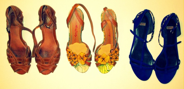 Wardrobe-Closet-Shoes-Sandals-Clarks-Miss-Sixty-Yellow-Flowers-Cutout-Camper-Indigo-Blue-Flats-2