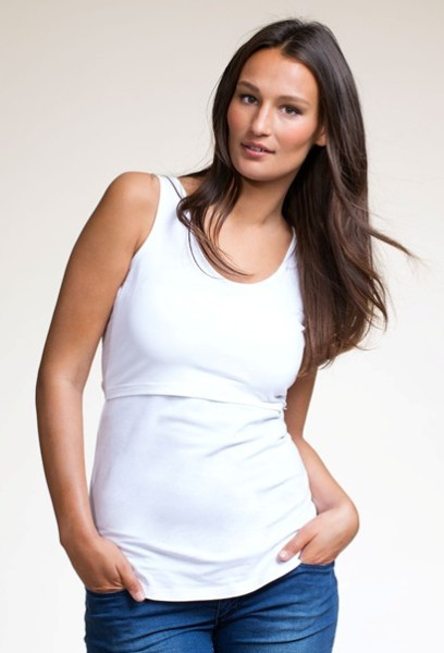 Boob's nursing singlet tank now with feminine lace tri. Double function for pregnancy and nursing. An essential basic garment in the nursing mother's wardrobe. Simply Lift the dual layer for breastfeeding access. Soft knitted stretch fabric/5(2).
