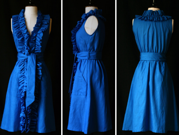 cobalt-blue-mel-en-stel-cup-of-tea-ruffle-dress-flemish-linen