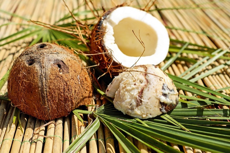 coconut-husk-shell-open-food