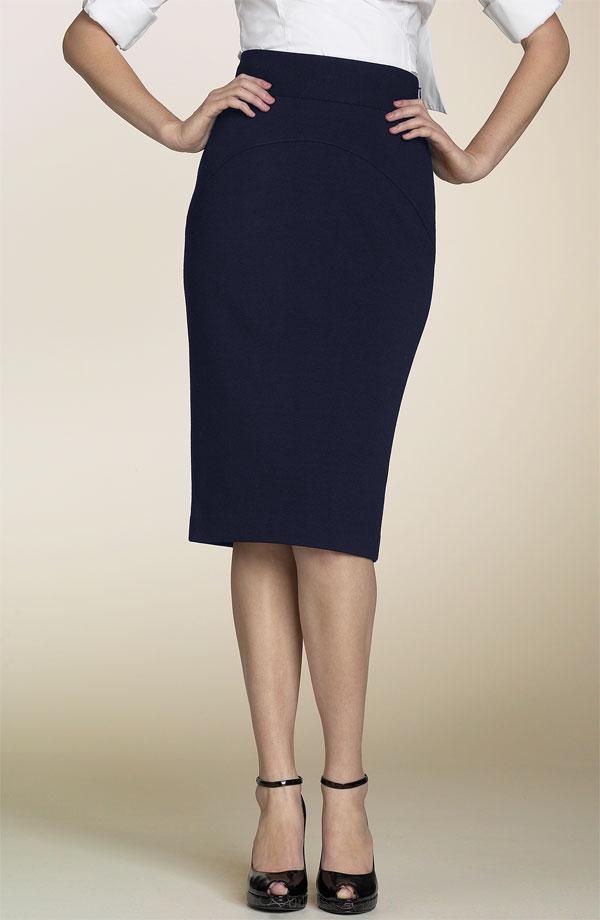 diane-von-furstenberg-black-marta-panel-skirt-model-back-in-navy