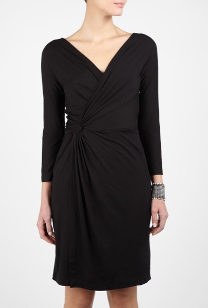 dkny-black-whisper-weight-jersey-wrap-dress