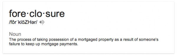google-definition-foreclosure