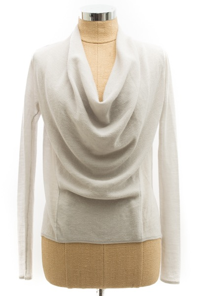 helmut-lang-grey-wool-sweater-xs-cowl-neck