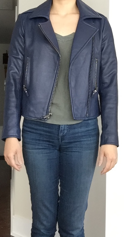Style Shopper Parker Easton Leather Jackets In Navy And Black