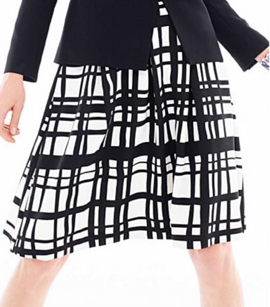 simons-traced-check-skirt